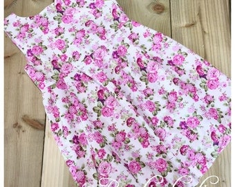Pink & green floral Summer Dress