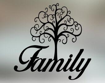 "Family Tree Metal Wall Art (20"" x 20"")"
