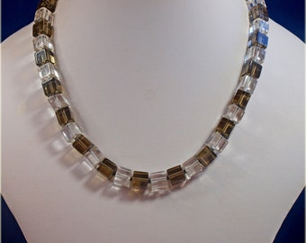 Vintage, 1960s, Glass Beaded Necklace (2559)