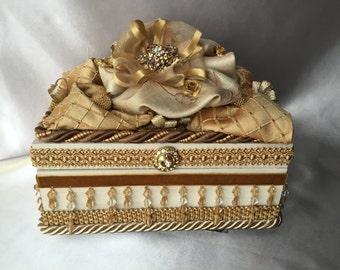 Golden Elegance wedding keepsake box