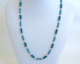 Necklace with woven beads