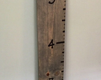 Children's Growth Chart Wood Ruler Wall Decor