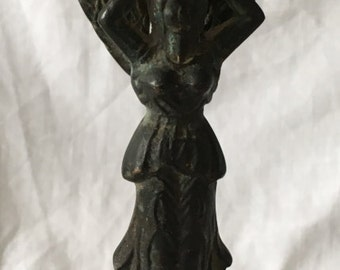 Candle holder in a form of an Angel – Unique antique copper piece