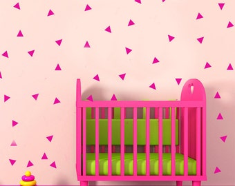 Triangles removable wall art stickers for Nursery or kids room Vinyl decal