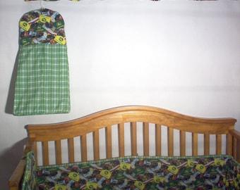 Handmade Toddle/Baby Bedding Using John Deere Fabric