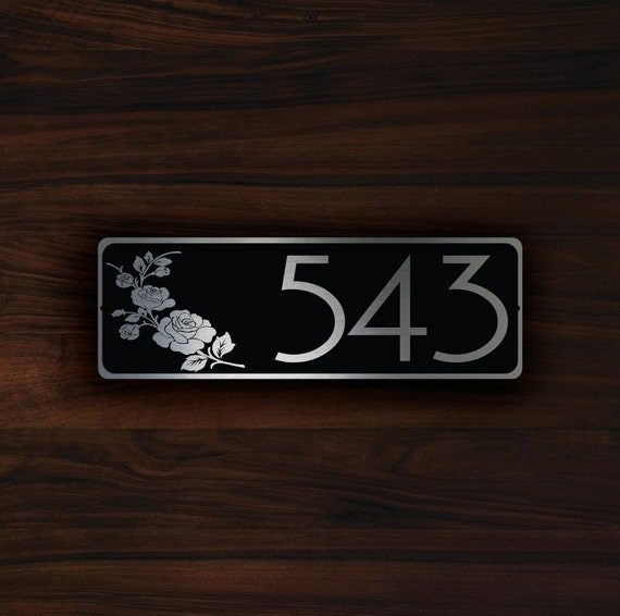 Personalized House Number Sign Outdoor House Nameplate