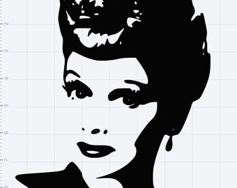 I Love Lucy Lucille Ball SVG EPS DXF Studio3 Cut File