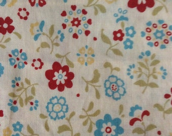 Floral cotton fabric 2 pieces
