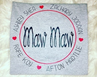 Personalized Mother's Day shirt