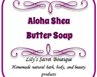 Homemade Aloha Shea Butter or Goats Milk Soap