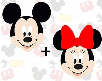 Mickey and Minnie Mouse PDF Pattern, Felt Pattern, Plush Pattern