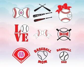 Baseball SVG - Baseball Monogram Svg - Baseball Monogram Frames Svg cutting file - Baseball SVG Cut files - DIY Printable Iron on Shirt Png