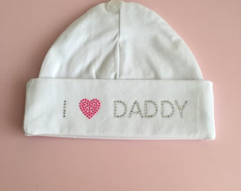 I love daddy newborn hat