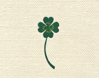 Machine embroidery clover