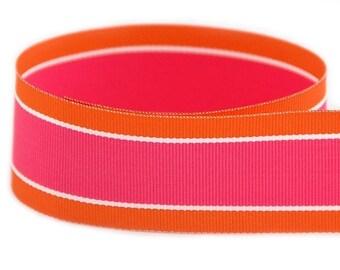Orange Guava Woven Grosgrain Ribbon     (08-##-ST-277)