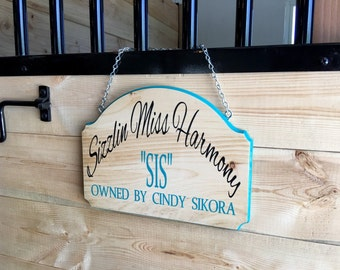 Personalized Custom Horse Stall Sign Horse/Barn/Registered Name