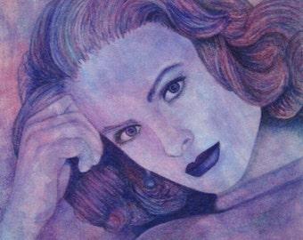 Grace Kelly canvas board print