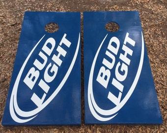 Bud Light Cornhole Set w/ Bean Bag Set