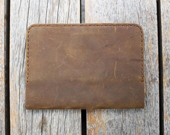 Handmade Leather Passport Folder