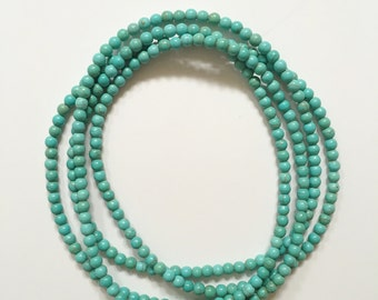 Double Wrap Beaded Magnesite Necklace