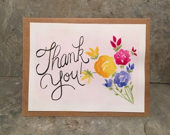 Hancrafted Thank You Card (blank inside)