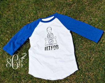 Vin Scully #ITFDB Adult raglan t-shirt
