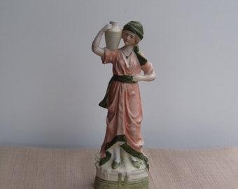 Antique German G Dep Bisque Porcelain Figurine Vintage Porcelain Hand Painted Antique Hand made Collectibles