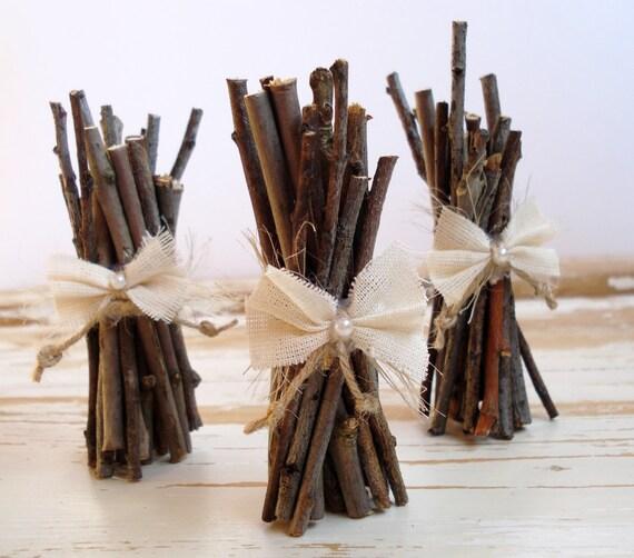 Table Number Holder 30 Wooden Sticks Rustic Wedding