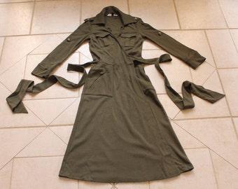 Vintage DIANE VON FURSTENBERG Green Wrap Dress           Sz 2