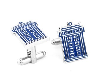 Dr who cuff links wedding groom groomsman gift