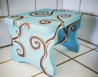 Tiffany Blue Stool