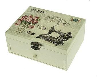 Casket for needlework Vintage 2-piece deck
