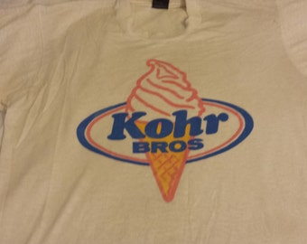 Vintage Kohrs Bros Ice Cream and Frozen Yogurt t-shirt. Jersey forever!