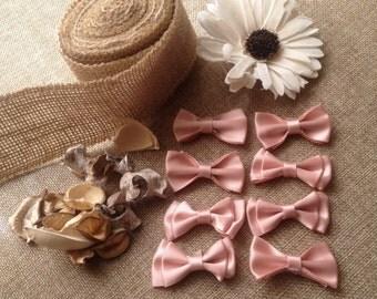 lot of 8 ribbons satin pink