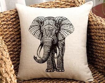 High Quality Paisley Elephant Cushion Cover UK SELLER