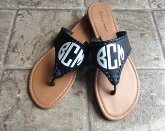 Personalized T-Strap Sandals