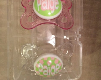 Baby pacifier with name