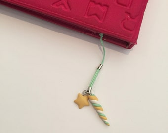 Magical rainbow unicorn horn cellphone charm! Kawaii