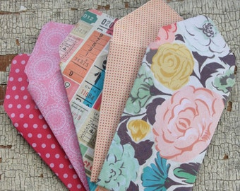 Patterned Gift Card Envelopes/Retro Style Gift Card Holders/Mini Envelopes/Floral Gift Card Envelopes/Money Envelopes/Set of 5
