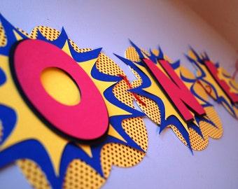 3D Superhero Banner