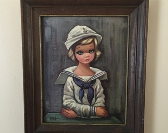 Sailor Girl by Eden vintage print