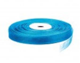 Sheer ribbon, 10 mm x 180mt turquoise