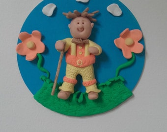 Walk in the Country - Polymer Clay Plaque