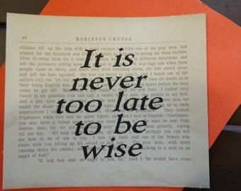 Robinson Crusoe Book Quote