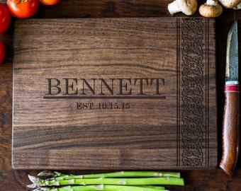 Custom Engraved Cutting Board, Personalized Cutting Board, Monogram, Wedding Gift, Anniversary, Bridal Shower Gift, Kitchen Decor #3030