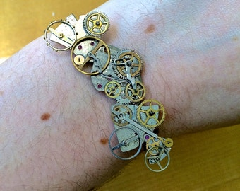 Steampunk fully adjustable bracelet