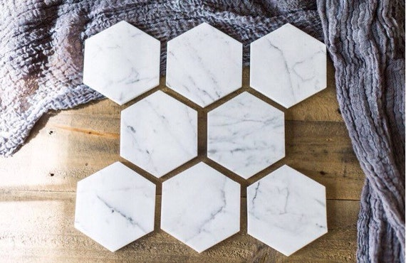 50 Marble Coasters Wedding Favors Geometric