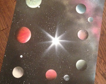 Space Spraypaint (posterboard)