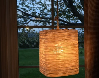 square shaped hanging string lantern