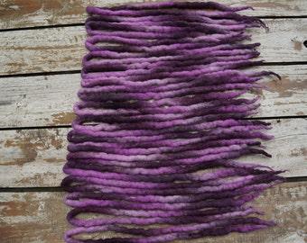 20 DE pink and purple dreadlocks extensions